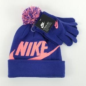 Girls Nike Beanie and Glove Set
